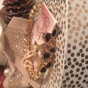 Jessica Simpson multi-jewel stretch bracelet NWT